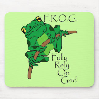 F R O G Fully Rely On God 1 Mouse Pads