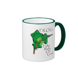 F.R.O.G. Fully Rely On God #1 Mugs
