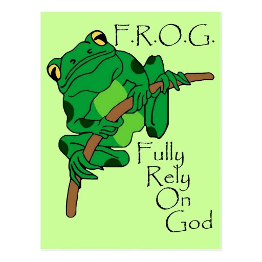 F.R.O.G. Fully Rely On God #1 Postcard