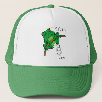 F.R.O.G. Fully Rely On God #1 Trucker Hat