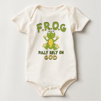 F.R.O.G. Fully Rely On God Baby Bodysuit