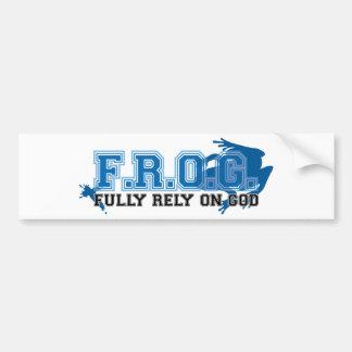 F.R.O.G. - Fully rely on God (blue) Bumper Sticker