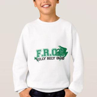 F.R.O.G. - Fully rely on God (green) Sweatshirt