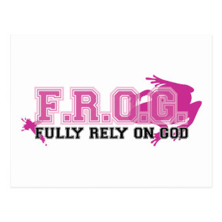 F.R.O.G. - Fully rely on God (pink) Postcard