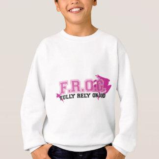 F.R.O.G. - Fully rely on God (pink) Sweatshirt