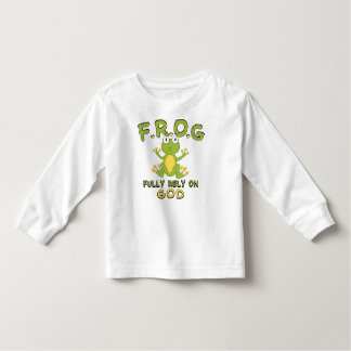 F.R.O.G. Fully Rely On God Toddler T-shirt