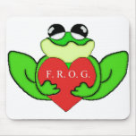 F.R.O.G.I.E. FULLY RELY ON GOD IN EVERTHING MOUSE PAD