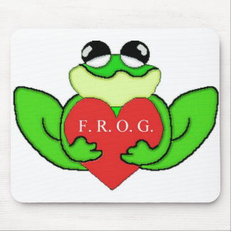 F R O G I E FULLY RELY ON GOD IN EVERTHING MOUSE PAD