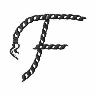 """""""F"""" Rope Alphabet 2.5"""" Embroidered Hoodie"""