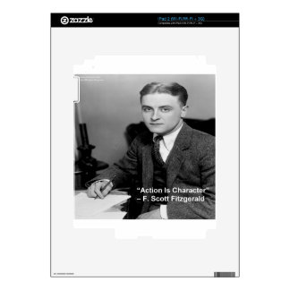 """F Scott Fitzgerald """"Action Is Character"""" Gifts Decal For The iPad 2"""