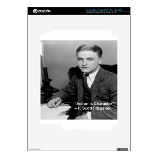 """F Scott Fitzgerald """"Action Is Character"""" Gifts Skins For iPad 3"""