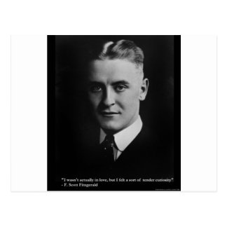 F Scott Fitzgerald Tender Curiosity Gifts & Tees Postcard