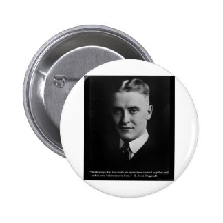 F Scott Fitzgerald Two Souls Gifts, Tees, Etc. Button