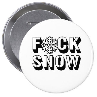 F SNOW -.png Pinback Buttons
