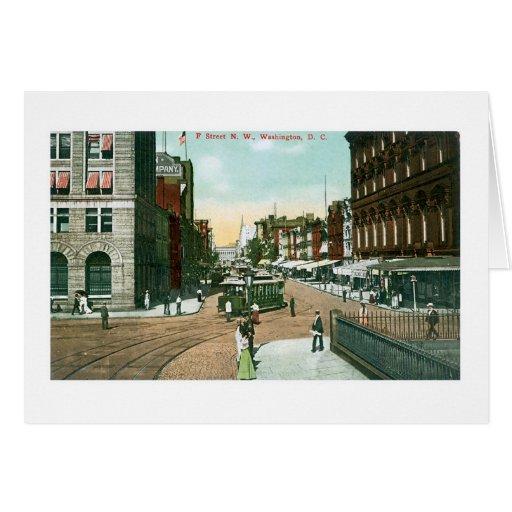 F Street, Washington, DC Greeting Card