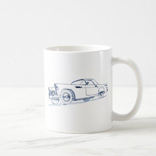 F Tbird 1955 Coffee Mugs
