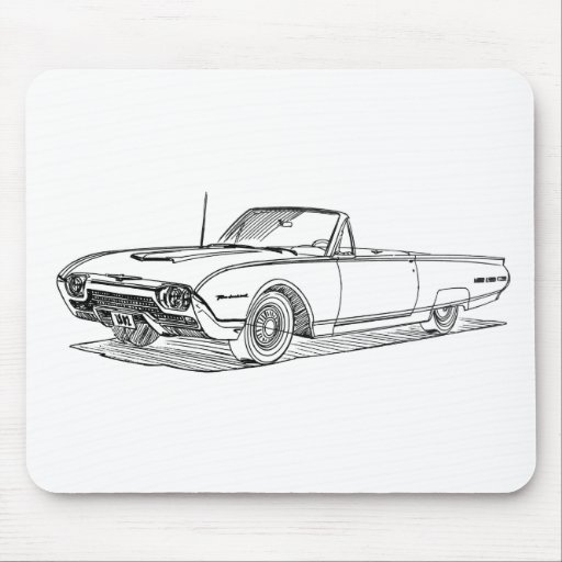 F Tbird 1962 Mouse Pads