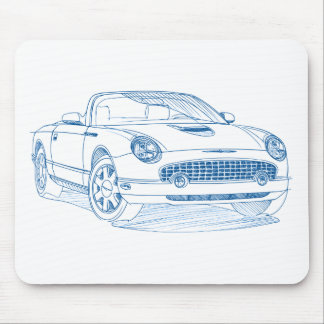 F Tbird 2002 sketch Mouse Pad