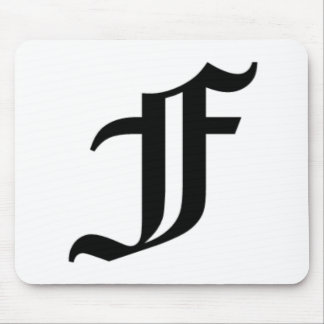 F-text Old English Mouse Pad