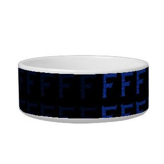 F - The Falck Alphabet (Blue) Bowl
