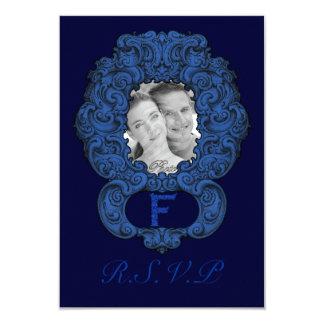 F - The Falck Alphabet (Blue) (Wedding) Card
