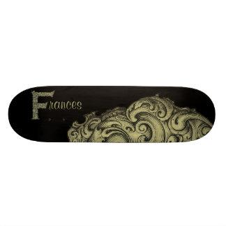F - The Falck Alphabet (Golden) Skateboard Deck