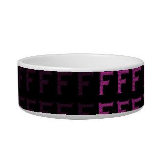 F - The Falck Alphabet (Pink) Bowl