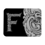 F- The Falck Alphabet (Silvery) Rectangle Magnets