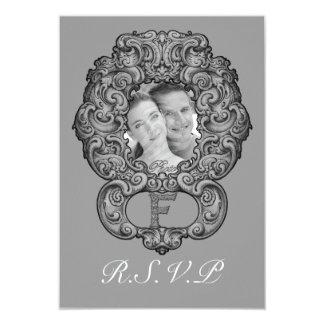 F - The Falck Alphabet (Silvery) (Wedding) Card