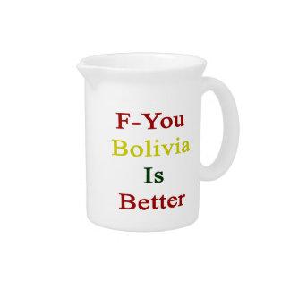 F usted Bolivia es mejor Jarras Para Bebida