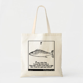 F was a little Fish Tote Bags
