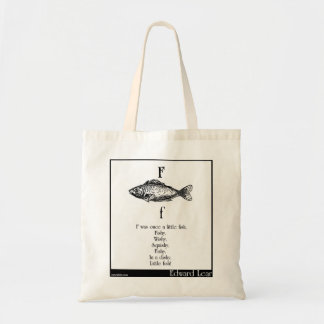 F was once a little fish tote bags
