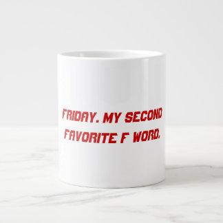 F word giant coffee mug