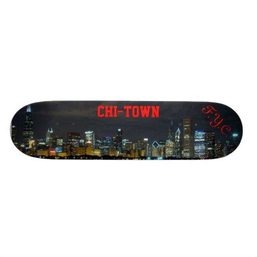 F.Y.C. Monopatín del horizonte de CHI-TOWN Patin Personalizado