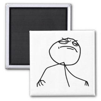 F Yea Rage Face Meme 2 Inch Square Magnet
