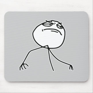 F Yea Rage Face Meme Mousepads