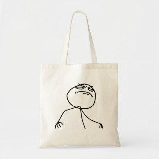 F Yea Rage Face Meme Tote Bag