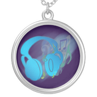 F* Yeah! Music! Round Pendant Necklace
