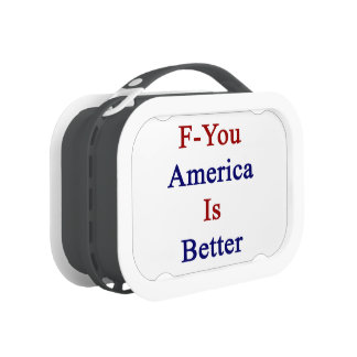 F You America Is Better Replacement Plate