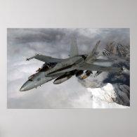 FA-18 Hornet Poster
