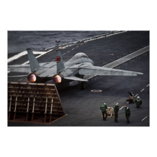 FA-18 take off USS Stennis Poster