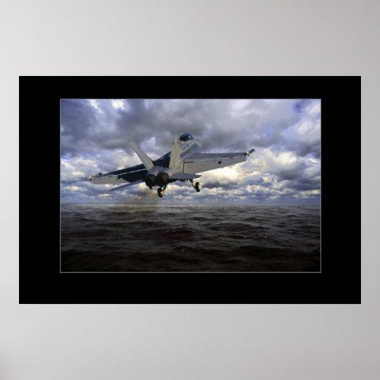 FA-18 takeoff Poster