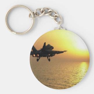 FA-18C ON TAKE-OFF KEYCHAIN