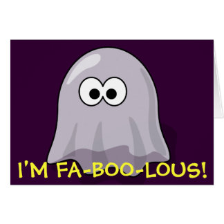 FA-BOO-Lous Cute Cartoon Halloween Ghost Card