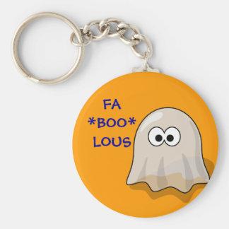 FA-BOO-LOUS Cute Cartoon Halloween Ghost Keychains