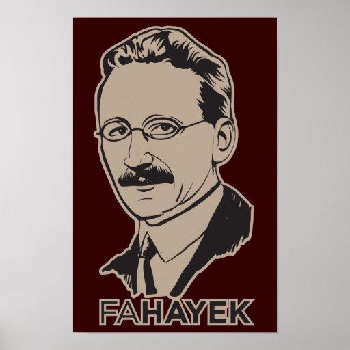 FA Hayek Poster
