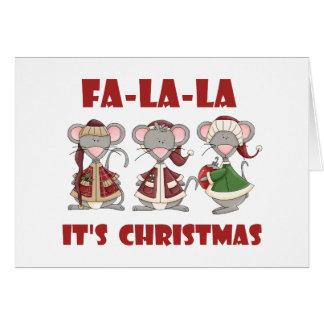 Fa La La Christmas T-shirts and gifts Card