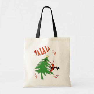 Fa La La Dancing Christmas Tree Crawfish / Lobster Tote Bag