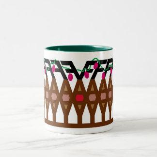 FA LA LA Egg Nogg Mugg Two-Tone Coffee Mug