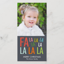 Fa La La Holiday Photo Card